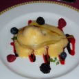 080.Pear Compote and Vanilla Ice Cream au Gratin