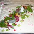 サヨリと赤貝のマリネと彩り野菜のサラダ オセトラキャヴィア添え