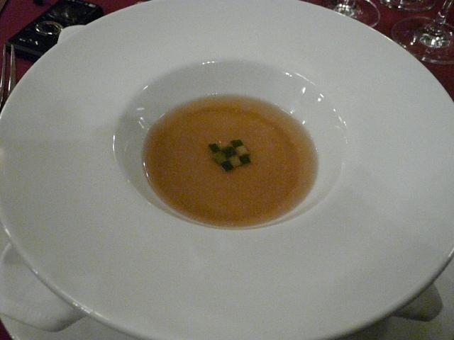 051.Broad Bean Flan with Consomme