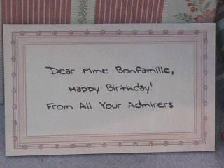 Dear Mme BonFamille