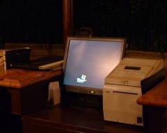 PS発券システムのスクリーンセーバー