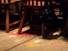 床のペンキ汚れ