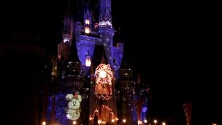 シンデレラ城のライトアップ