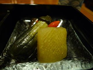 鰊、茄子と冬瓜の冷製炊き合わせ