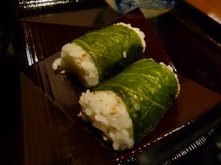 広島菜の俵ご飯