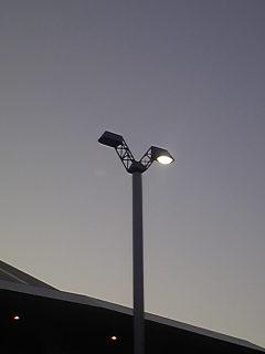 スペースマウンテン横の街灯