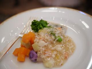 南房総産の旬野菜 黒豆と山芋のパンケーキ仕立て