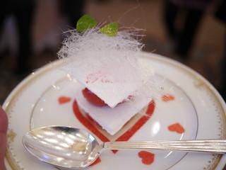 柚子風味の苺とあまおうのソルベのバシュラン
