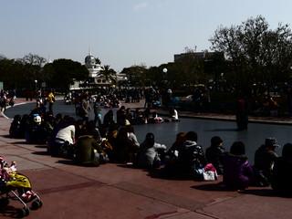 シンデレラ城前のパレードルート