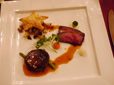 牛フィレ肉のポワレともも肉のロースト