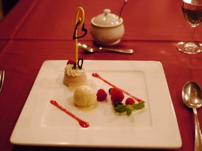 ストロベリームースとチーズクリーム