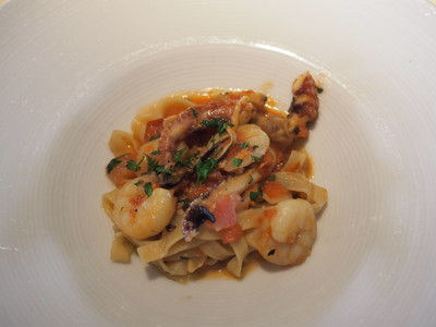 Fettucine with Seafood Ragu and Sun-Dried Tomatoes