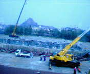 タワーオブテラーの建設現場