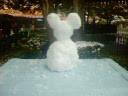 ミッキー雪だるま