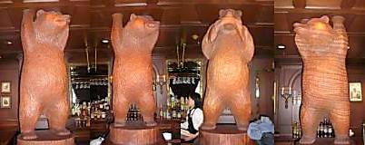 ルーズベルトラウンジの熊