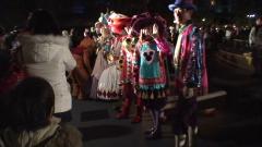 ポルトパラディーゾ・ウォーターカーニバル衣装のダンサー