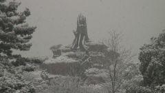 雪のスプラッシュマウンテン