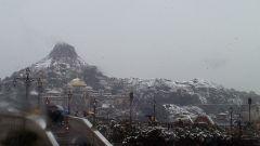 プロメテウス火山も雪化粧